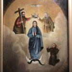 Wprowadzenie obrazu NMP Królowej Świata dobarokowego kościoła wLipinkach. Program uroczystości