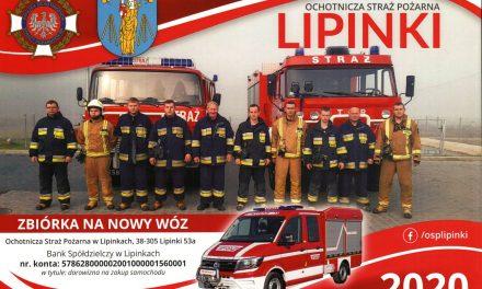 Strażacy OSP Lipinki zapukają donaszych domów zkalendarzami na2020 rok