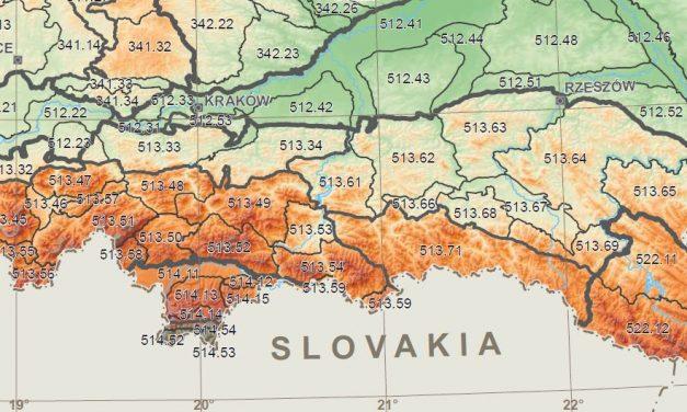 Regionalizacja Karpat Polskich: Pozmianach gmina Lipinki wtrzech regionach karpackich