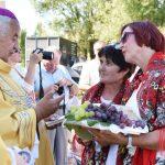 Koło Gospodyń iGospodarzy Wiejskich zLipinek nadiecezjalnych dożynkach wRzeszowie