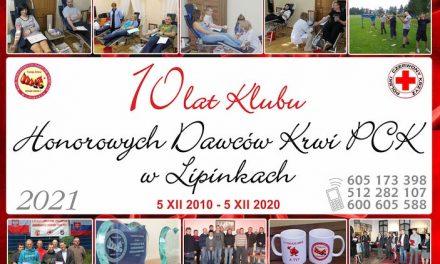 Jubileuszowy kalendarz dla lipińskich krwiodawców
