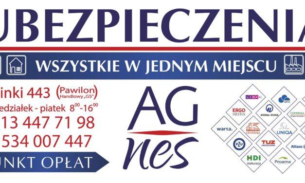 Agnes Ubezpieczenia. Biuro Ubezpieczeniowe  wLipinkach Agnieszka Polańska
