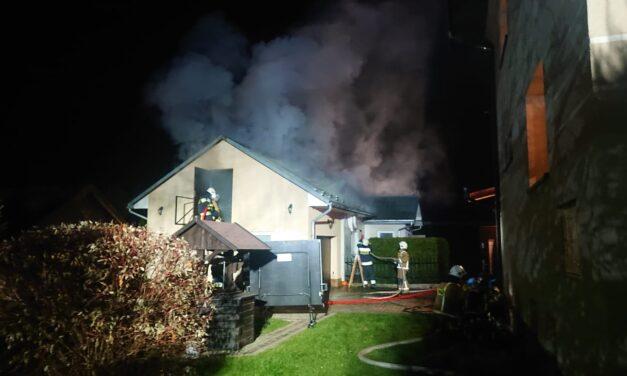 Pożar budynku gospodarczego wLipinkach